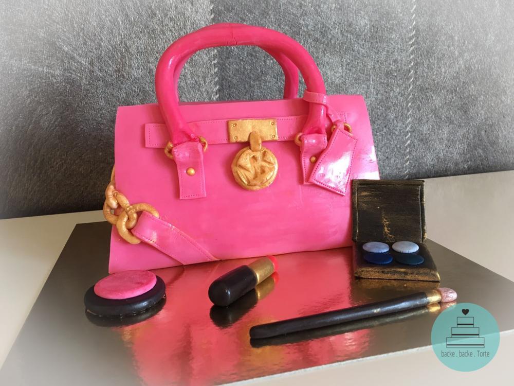 Geburtstagstorte . Handtasche . MakeUp . Motivtorte .