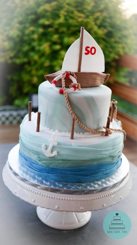 Geburtstagstorte . Segelboot . Motivtorte .